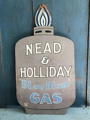 AAFA Old Vintage Wooden Figural Gas Company Trade Sign