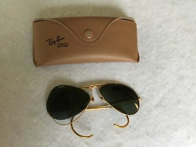 Vintage Ray-Ban Aviator Sunglasses 58014 & Case For Parts/repair