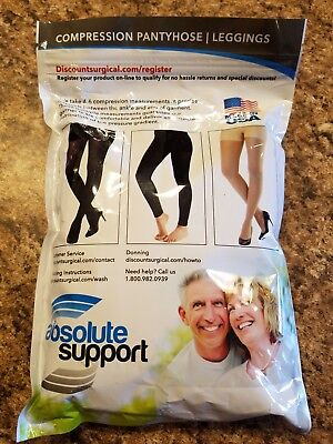 NWT Maternity Compression Pantyhose Beige 2XL Firm Graduated Absolute Support