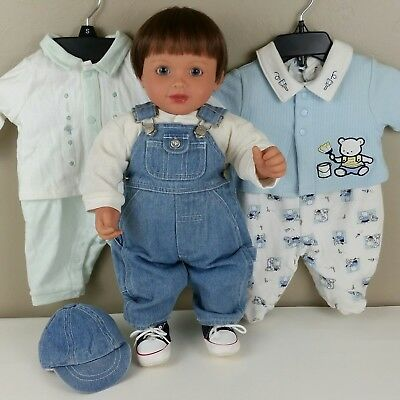 My Twinn Babies Posable Toddler Baby Boy/Girl Doll w/3 Outfits James Cornwall
