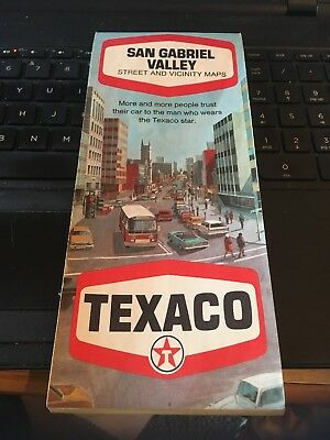 1970 Texaco Map; San Gabriel Valley Street and Vicinity Maps