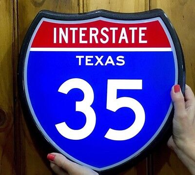 Highway Interstate Texas 35 Light Up Retro Sign 9 to choose from Lighted Sign