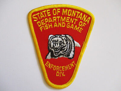 vintage 1980s State of Montana Dept of Fish and Game Enforcement Police Patch