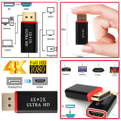 Display Port to HDMI Male Female 4k*2K Adapter Converter DisplayPort DP to HDMI