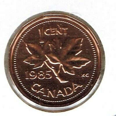 1985 Canadian Proof Like One Cent Elizabeth II Coin!