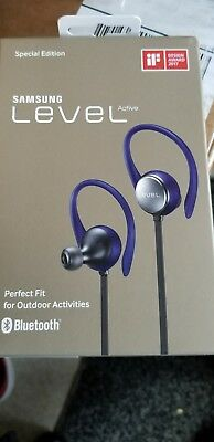 New Samsung Level Active Wireless Bluetooth Fitness Earbuds - Blue