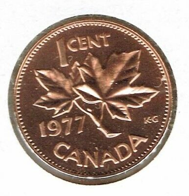 1977 Canadian Proof Like One Cent Elizabeth II Coin!