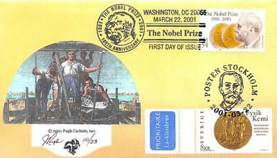 3504 34c Nobel Prize, Pugh H/P Hand Painted, joint issue with Sweden [E425853]