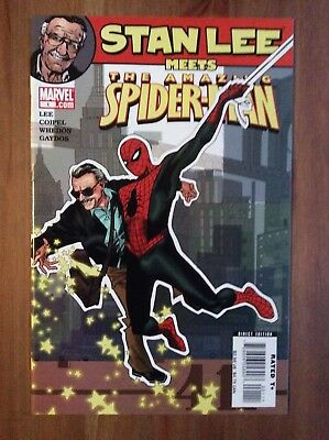 STAN LEE MEETS AMAZING SPIDER-MAN (Amazing Fantasy 15 Homage) NM Make An Offer!