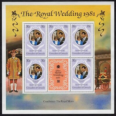 Grenadines of Grenada: Pair of unmounted mint '81 Royal Wedding miniature sheets
