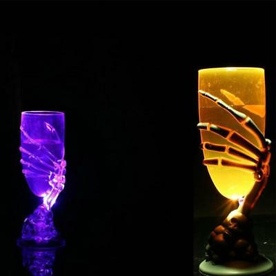 LED Glowing Skeleton Claw Cup Skull Wine Glasses Party Halloween Decor Props