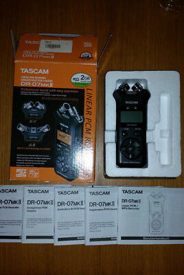 Tascam Dr-07 Mkii Linear Pcm Handheld Portable Digital Audio Recorder