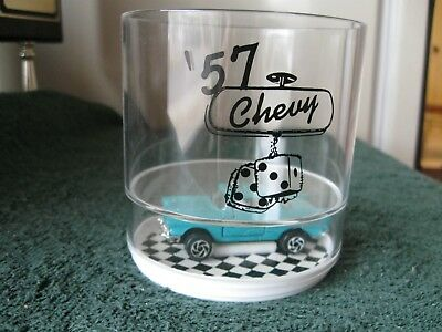 57 Chevy drinking glass