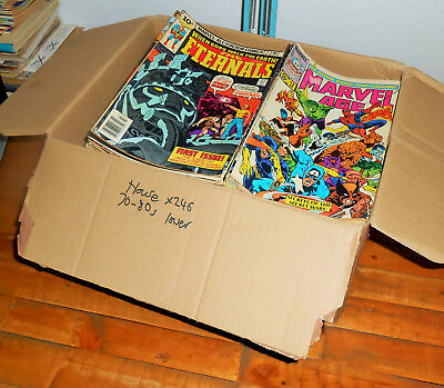 245x Huge VINTAGE 1970s & 1980s MARVEL COMICS lot - House Clearance - Will Post