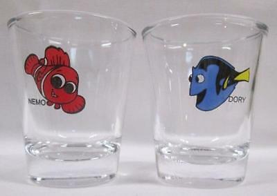 A Charming Set of 2 Nemo & Dory 1  1/2 oz. Shot Glasses
