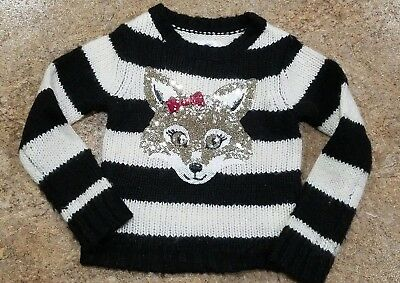 Justice Girls Fox Sequenced Strioed Sweater. Size 5. NWOT
