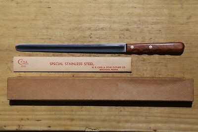 """Case Xx Stainless Cap 242 9 1/2"""" Slicing Knife Round Tip New/unused In Box Usa"""
