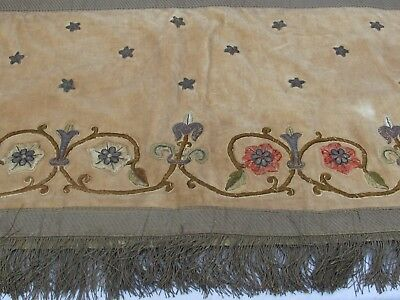 18th c. Antique Velvet and Gold Embroidered Altar Table Runner or Hanging Panel