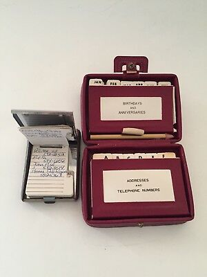 Vintage Mini Suitcase Address Book and Metal Flip Open phone number Lot of 2