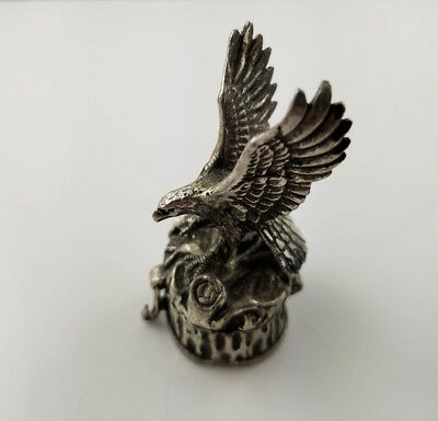 Alpaca Mexico Eagle Trinket Box Height 2-1/8""