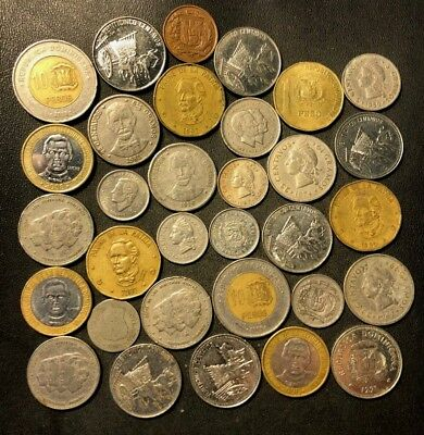 Old Dominican Republic Coin Lot - 1888-Present - 31 Great Coins - Lot #N13