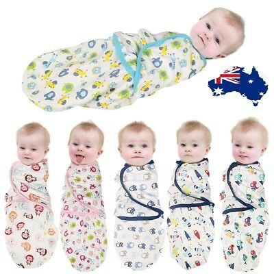 Newborn Baby Cotton Swaddling Towel Swaddle Adjustable Infant Wrap Sleeping Bag