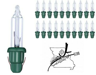 GE 20x Mini 2.5 Volt Clear Christmas Light Bulbs Replacement Tree Lights Style A