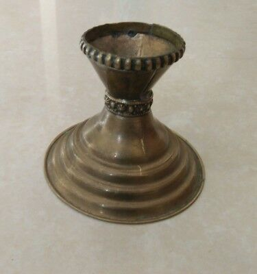 rare Ancient antique Bronze viking Candlestick artifact beautiful authentic