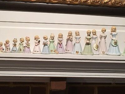 Enesco Grow Up Girls Lot of 17 Mint Condition - Great Birthday Christmas Gifts