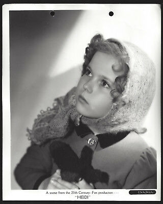 Original 1937 stamped lovely SHIRLEY TEMPLE as HEIDI key book best portrait