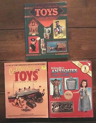 Lot Of 3 - Toys Antiques Collectors Books - Schroeders Longest - Sc & Hc - Used
