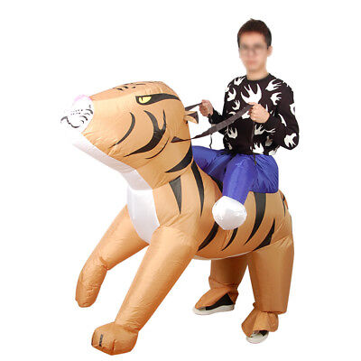 Tiger animal costume Inflatable Blow Up Costume Party Gift Cosplay Dress
