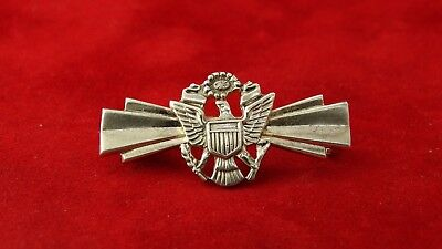 WWII US Army USMC Military Sterling Silver Pin (3.7g)