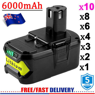 18 Volt P104 P108 P780 FOR RYOBI ONE+ BATTERY 6.0AH RB18L25 RB18L50 P107 LITHIUM