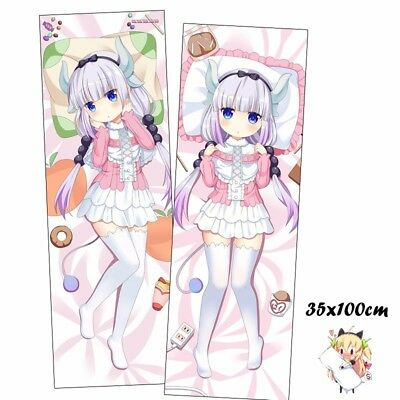 Miss Kobayashi/'s Dragon Maid Anime Girl Dakimakura Kanna Body Pillow Case Cover