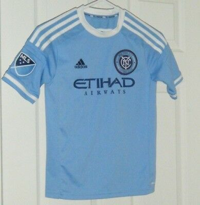 new arrival e4d9e 8908a NYCFC Authentic Adidas New York CIty FC Climacool Home Jersey KId s Medium  Used
