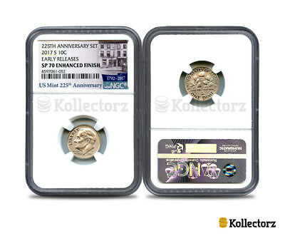 2017 S 225Th Anniversary Set 10C Ngc Sp70 Enhanced Finish Early Releases