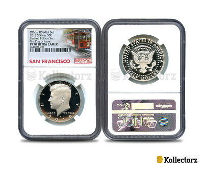2018 S Silver 50C Limited Edition Set Ngc Pf70 Ultra Cameo First Day Of Issue