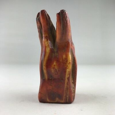 Ancient Chinese Hippo Teeth Carved Seal  H4