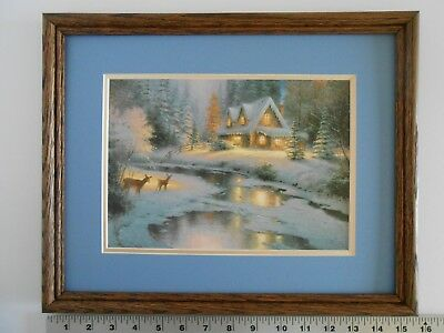Thomas Kinkade DEER CREEK COTTAGE framed 11X14 o