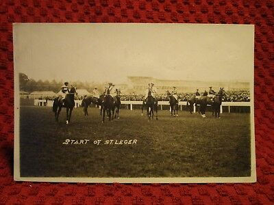 Rppc 1930's. Start Of St. Leger. Horse Exhibition Show. Postcard H11