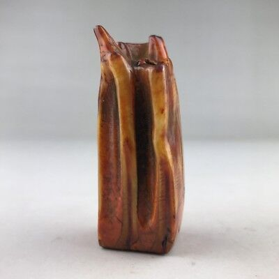 Ancient Chinese Hippo Teeth Carved Seal  H3