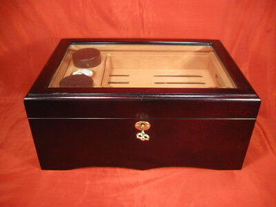 Two Tiers Cigar Humidor with Accessories