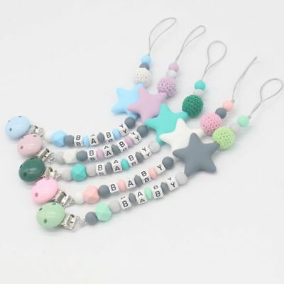Personalised Name Classical DIY Pacifier Modern Baby Grateful Clips Soother