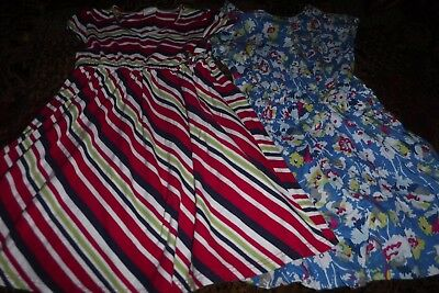 Lot of 2 Girls Dresses Youth Medium Dress, Crazy 8, GAP, Flowers, Floral, GUC