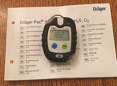 Drager Pac 3500 O2 Gas Monitor