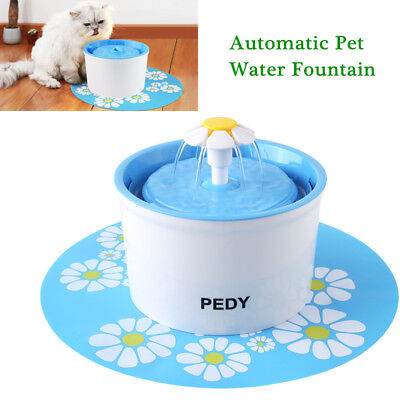 Automatic Electric Cat Water Fountain Pet Dog Drink Dispenser Bowl Filter 1.6L