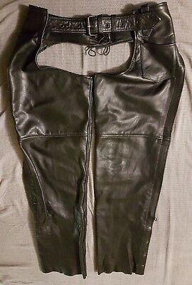 Screaming Eagle Leather Chaps Size Large(Excellent Condition)
