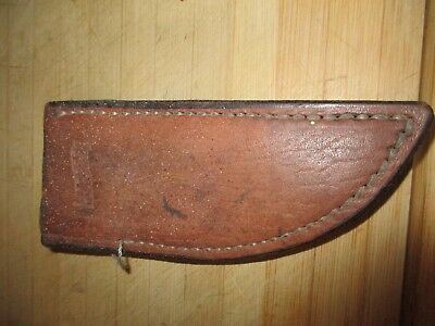 Vintage Leather Marbles Arms Knife Knive Sheath Gladstone Michigan
