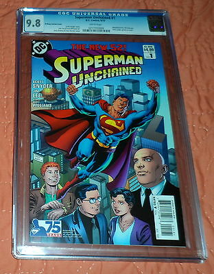 Superman Unchained #1, variant 1:25 cover, CGC 9.8 NM/MT, Ordway Cover